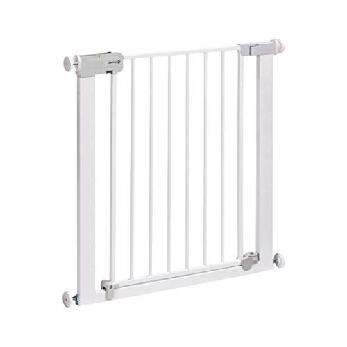 Safety 1st Securtech Auto-Close Metal Gate, Easy to Use, Quick and Easy to Install. 6-24 months, White