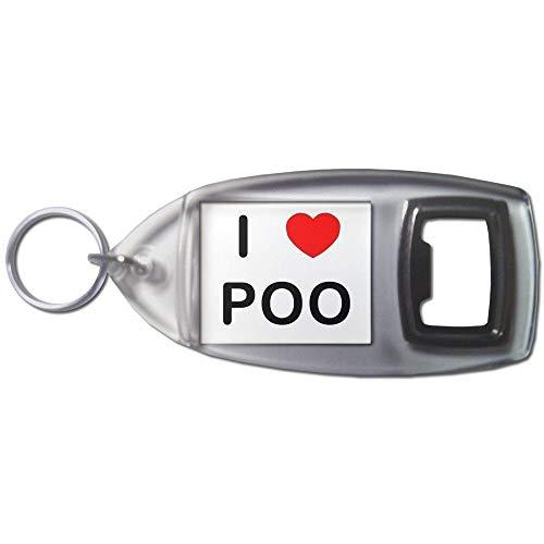 I Love Poo - Plastic Bottle Opener Key Ring