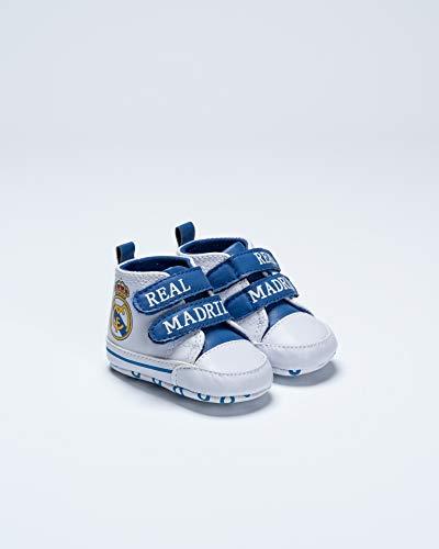 Real Madrid Stiefel für Kinder, Jugendliche, Unisex, Weiß, Größe 17