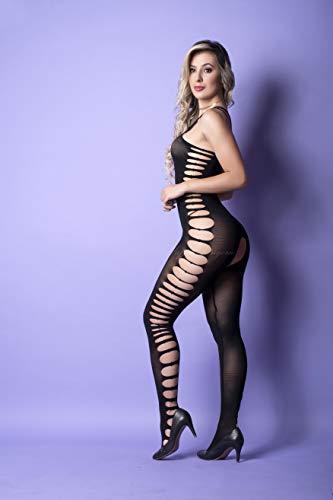 Mini vestido sensual sem manga e detalhes vazados por toda a peça- YAFFA Lingerie