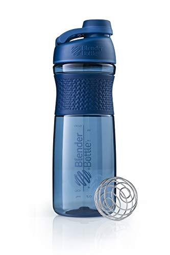 BlenderBottle Sportmixer Twist Tritan Trinkflasche mit BlenderBall, geeignet als Protein Shaker, Eiweißshaker, Wasserflasche oder für Fitness Shakes, BPA frei, skaliert bis 760 ml, 820 ml, navy blau