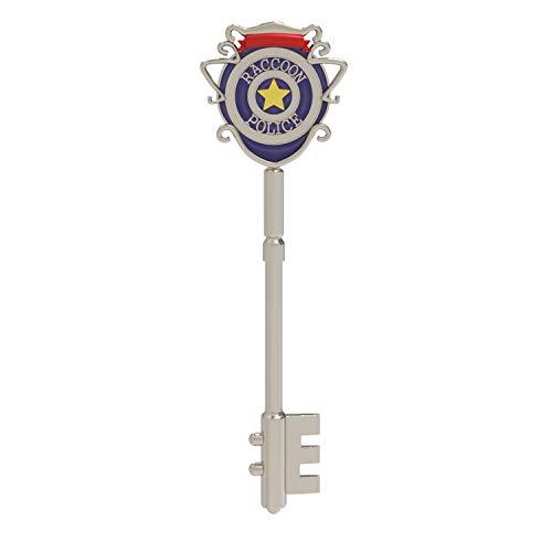 X-COSTUME Bewohnner Evil Key Square - Llavero cuadrado con forma de corazón de ciruela, plata (Plateado) - G001-B99B-00-0000-1204-1340461705