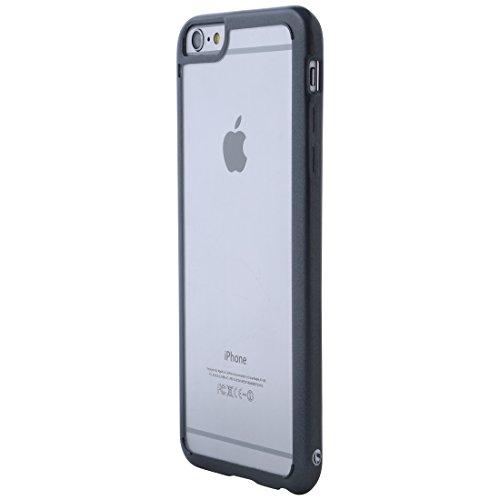 Ultratec-Mobile 331400000558 Hybrid Schutzhülle für Apple iPhone 6 Plus/6s Plus (Reißverschluss-Tasche, farbiger TPU-Rand) klar/schwarz