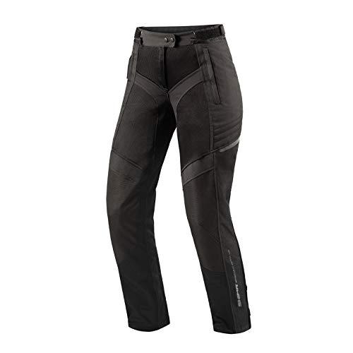 SHIMA JET LADY PANTS BLACK, Sommer Mesh Motorradhose mit Protektoren für Damen (Schwarz, XL)