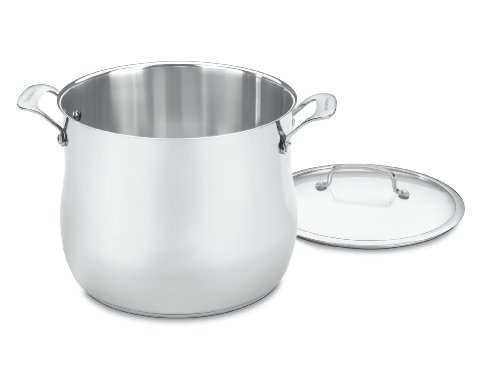 12 qt stock pot stainless steel - 6