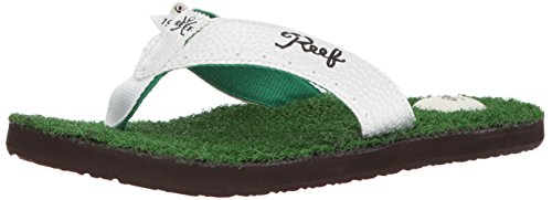 Reef Men's Sandals Mulligan II | Golf Inspired Flip Flops for Men, Green, 13