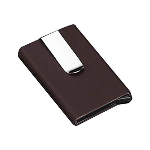Paquete de Tarjeta ZZXS Metal Magic Pop-up ID de Negocio Titular de Tarjeta de crédito Caja de Tarjeta de Banco Neutral Caja de Tarjeta de Visita para Hombres y Mujeres con Clip de MetalCafé