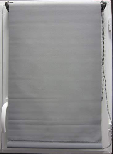 Tenda a rullo oscurante (45 x H90 cm) Tinta unita Grigio