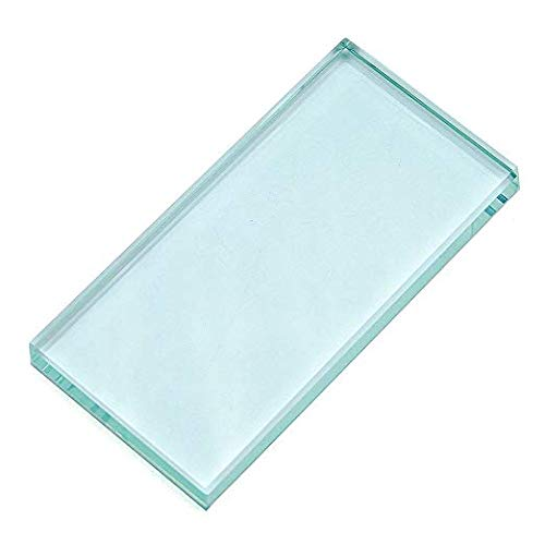 Pro Nail Art Painting Color Toning Glass Board Glass Makeup Palette Eyelash Extension Adhesive Glue Pallet Glass Palette Stand(2 x 4 Inch )