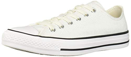Converse women's Ctas Ox Vintage Black/White Sneaker, 10.5 M US