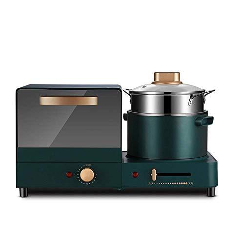 ZFQZKK Toaster Horno Mini horno Máquina de desayuno Home Multifuncional Sandwich Fabricante de pan de vapor de alimentos Diseño compacto 1180W Herramientas de cocina multiusos Multiusos Hornos halógen