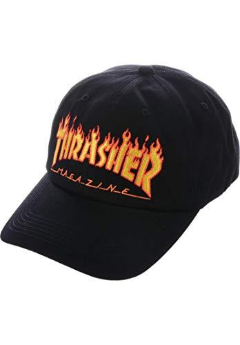THRASHER Flame Old Timer Hat Black