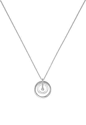 JETTE Damen-Kette 925er Silber rhodiniert 42 Zirkonia One Size 87633586