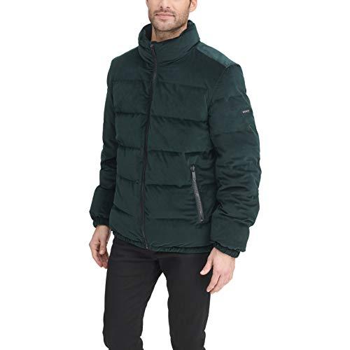 DKNY Herren Quilted Velvet Ultra Loft Puffer Jacket Alternativer Daunenmantel, Grün, XX-Large
