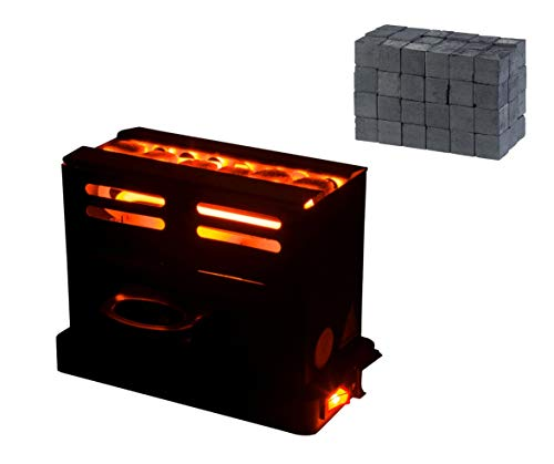 DIAMOND HOOKAH Premium Shisha Kohleanzünder Toaster elektrisch für Shisha Kohle + 1KG Kohle, Kohlen Ofen 800 Watt, Kohlenanzünder elektrisch