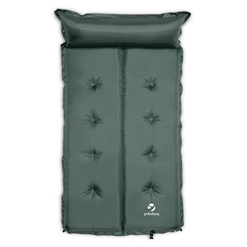 Yukatana Goodbreak - Colchoneta Doble Aislante autohinchable (Esterilla Auto Inflable, colchón Camping,...