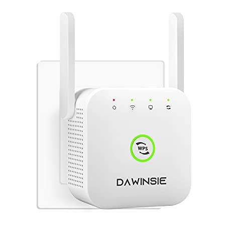 WLAN Repeater WLAN Verstärker WLAN Extender 300 Mbit/s 2,4GHz WiFi Booster mit Repeater/AP Modus/LAN Port/WPS / 2 External Antennas, Kompatibel zu Allen WLAN Geräten, Weiß