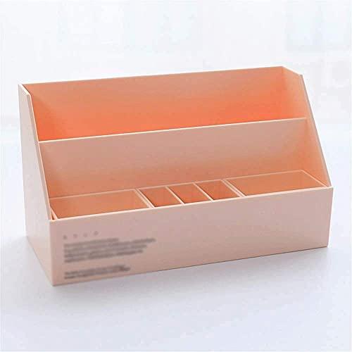 HYLK Boîte de Rangement - Organisateur de Rangement pour Panier en Plastique pour Bureau, Organisateur de Salle de Bain Lavable (Couleur: Rose)