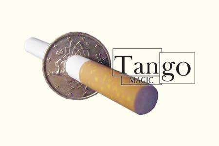 Cigarette Through (50 Cent Euro, Two Sided w/DVD) (E0010) by Tango - Trick