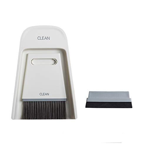 Mini Desktop Sweep Limpieza Brocha pequeña Escoba Dustape Linda Traje de Escoba para computadora Teclado, Coche, Mascotas (Color : Dark Gray)