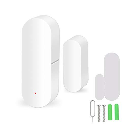 Tür Fenster Alarm Sensor, Wireless WiFi Magnetic Door Window Sensor, Mini Tür/Fenstersensor für Eingangsglocke Alarmanlage Sensor Kompatibel für Alexa und für Google Home