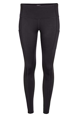 Layer 8 Women's Workout Running Yoga Capri and Legging (Medium, Jet Black)