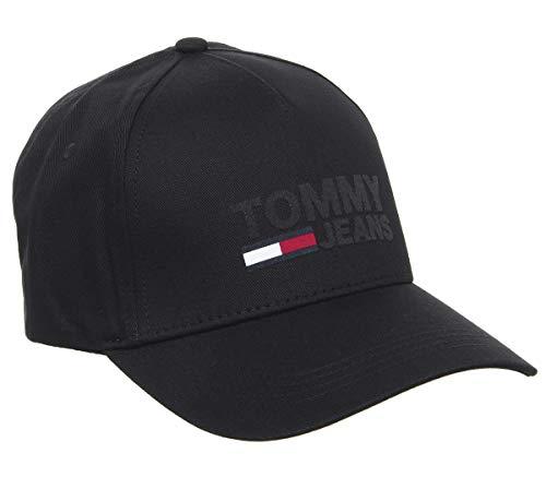 Tommy Hilfiger Logo Cap, Schwarz - Schwarz  - Größe: Einheitsgröße