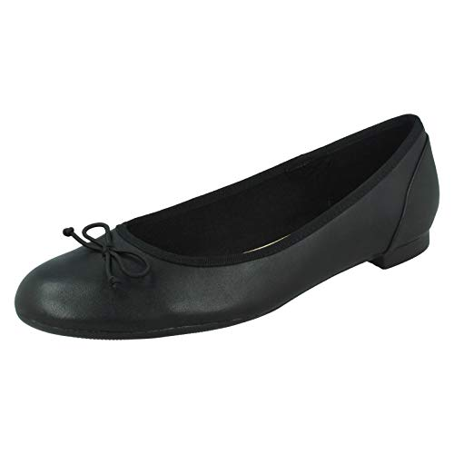 Clarks Couture Bloom, Damen Ballerinas, Schwarz (Black Leather), 38 EU (5 Damen UK)