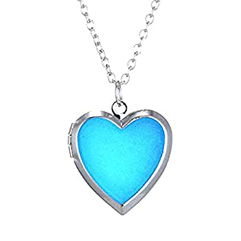 CliPons Fashion Heart Shaped Color Change Mood Pendant Charm Necklace Emotion Jewelry for Women