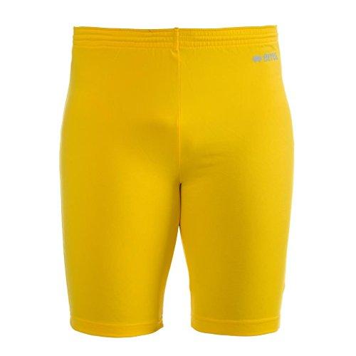 ORFEO AD functionele broek (knielang) van Erreà · ERWACHSENE dames heren sport onderbroek (kort) van polyester · BASIC Slim-Fit broek (elastisch) voor teamsport · BASELAYER compressiebroek (endotherm) lage compressie · (kleur geel, maat S/M)