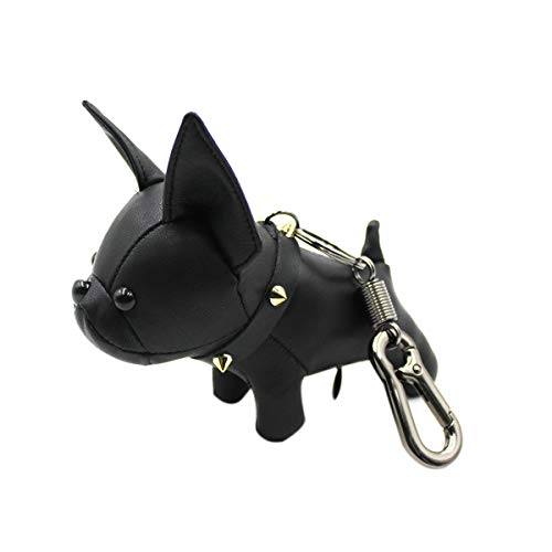 Aibearty Cute French Bulldog Leather Keychain Car Key Ring Pendant Gift Purse Handbag Backpack Charm for Women Kids