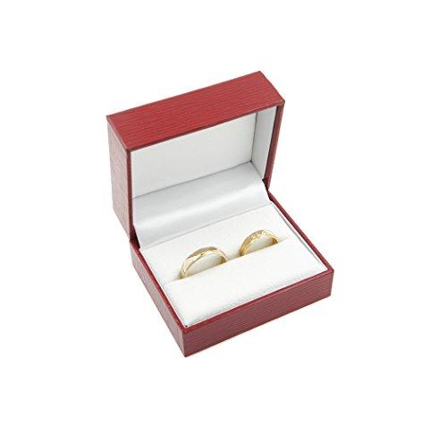Estuche para 2 anillos de boda de alta calidad:...