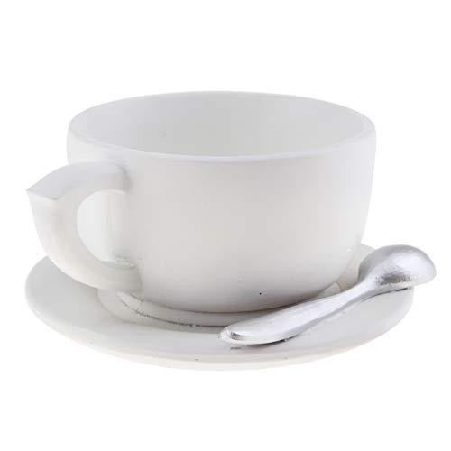 B Blesiya Mini Pflanzentopf, Blumentopf Kaffeetasse Form für Garten Büro Tischdeko, auch als Geschenk für Kinderekor