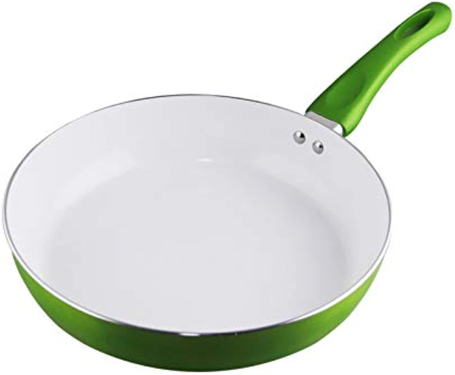 Non-Stick Copper Frying Pan with Nanoscale Ceramic Coating and Induction Cooking,Oven & Dishwasher Safe panela de Ceramica Pot 26cm, Green