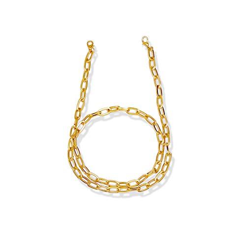 Cordón para gafas, correa de metal para adultos y niños, antipérdida, cadena larga