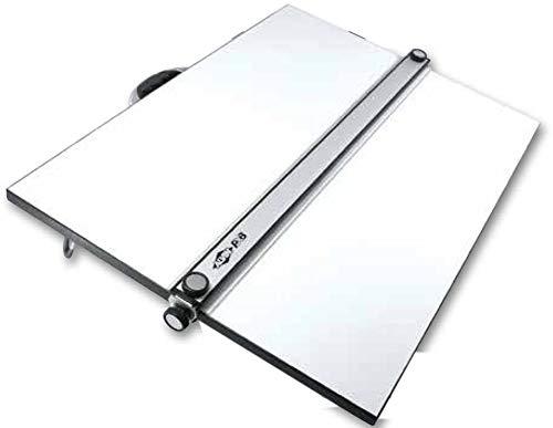 Zeichenplatte A2/A2+, professionelles Zeichenbrett mit Parallel-Zeichenschiene, Stabiler Kunststoff, transportable Arbeitsfläche (A2, 18 x 24 inch)