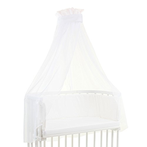babybay Himmel Piqué mit Band passend für die Modelle Original, Maxi, Boxspring, Comfort, Comfort Plus und Midi, weiß