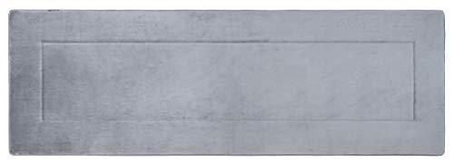FABBRICA HOME Ultra-Soft Extra-Thick Memory Foam Extra Long Bath Runner Mat (2 ft x 6 ft, Slate Grey)