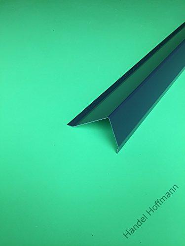 Ortgangblech für Flachdach 2 m lang Aluminium farbig 0,8 mm (groß, Anthrazit)