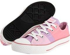 Converse 622388F Split Pattern Ox Pin Junior Size 1 Pink/Purple