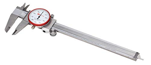 Hornady Dial Caliper, 050075 - 6 Inch Stainless Steel Shock-Resistant Dial Caliper Measuring Tool with Storage Case - Measure Reloading Supplies Inside, Outside, Depth, & Step to .001 Inch Accuracy