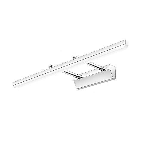 HG-JIAJUR 9 W LED spiegellamp roestvrij staal spiegellamp 180° instelbaar badlamp route badkamer armatuur IP44 waterdicht beeldlicht kastverlichting wandlamp koud wit 6000K 630lumen
