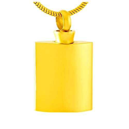 Wxcvz Colgante para Conmemorar Colgante De Urna De Cremación De Botella De Vino Colgante De Recuerdo De Ceniza Conmemorativa para Mascota/Cenicero De Cenizas Humanas