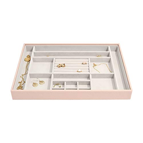 Stackers Blush Pink Supersize Jewellery Box Ring/Accessories Layer