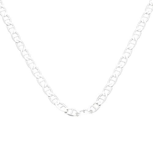 Jollys Jewellers - Cadena de ancla para hombre, plata de ley de 51,4 cm (3 mm de ancho)