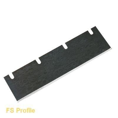 Strippermesser/Ersatzklinge für Stripper - gerade 210x60x1-4 Schlitze