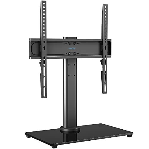 BONTEC Supporto da Tavolo Per TV LCD LED 26-55 , Support TV Regolazione in Girevole one-touch, Piedistallo TV che Regge fino a 40 Kg, VESA Max 400x400 mm