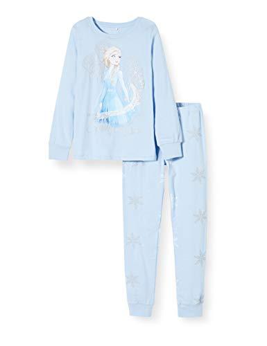 NAME IT Mädchen 13171346 Zweiteiliger Schlafanzug, Blau (Cashmere Blue Cashmere Blue), (Herstellergröße: 104)