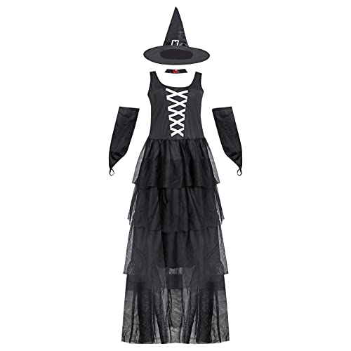GDYJP Moda Mujeres Halloween Bruja Cosplay Traje Sexy Bruja Traje (Color : A, Tamaño : M)