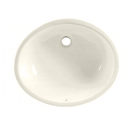 American Standard 496221.222 Ovalyn Ceramic Undermount Oval Bathroom sink, 19.6' L x 17.6' W x 9' H, Linen